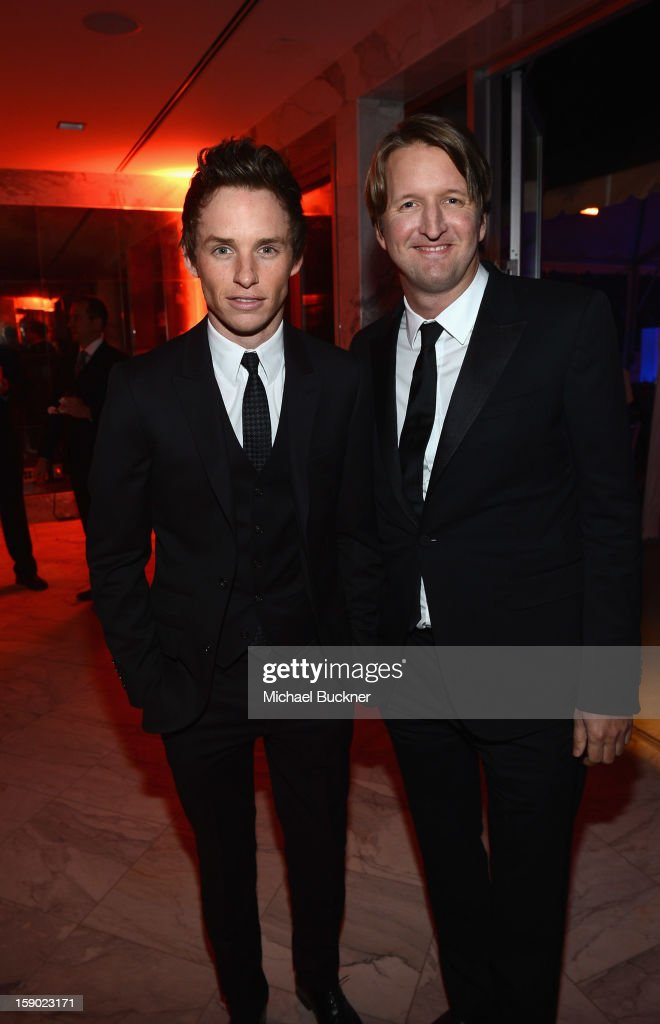 Actor <a gi-track='captionPersonalityLinkClicked' href=/galleries/search?phrase=Eddie+Redmayne&family=editorial&specificpeople=2554844 ng-click='$event.stopPropagation()'>Eddie Redmayne</a> and director <a gi-track='captionPersonalityLinkClicked' href=/galleries/search?phrase=Tom+Hooper&family=editorial&specificpeople=681836 ng-click='$event.stopPropagation()'>Tom Hooper</a> at the 24th Annual Palm Springs International Film Festival Awards Gala After Party At Parker Palm Springs on January 5, 2013 in Palm Springs, California.