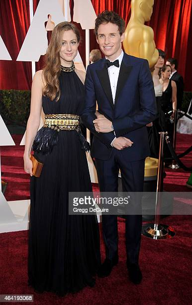 Actor Eddie Redmayne and Hannah Bagshawe arrive at the 87th Annual Academy Awards at Hollywood Highland Center on February 22 2015 in Hollywood...