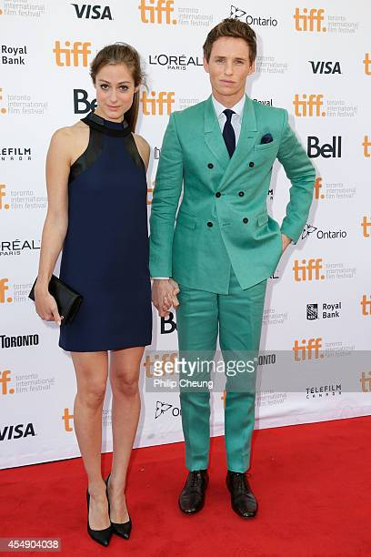 Actor Eddie Redmayne and Hannah Bagshawe attend the premiere of 'The Theory Of Everything' during the 2014 Toronto International Film Festival at...