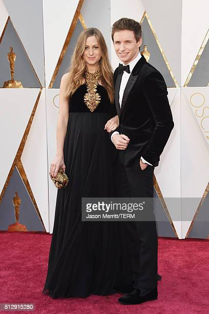 Actor Eddie Redmayne and Hannah Redmayne attends the 88th Annual Academy Awards at Hollywood Highland Center on February 28 2016 in Hollywood...