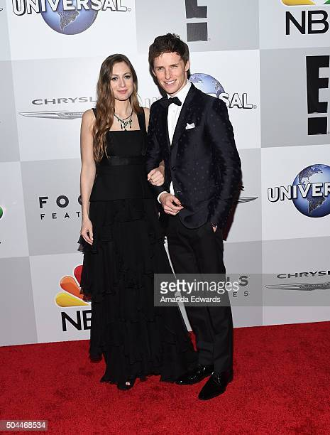 Actor Eddie Redmayne and his wife Hannah Bagshawe arrive at NBCUniversal's 73rd Annual Golden Globes After Party at The Beverly Hilton Hotel on...