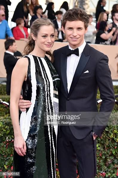 Actor Eddie Redmayne and publicist Hannah Bagshawe attend the 22nd Annual Screen Actors Guild Awards at The Shrine Auditorium on January 30 2016 in...