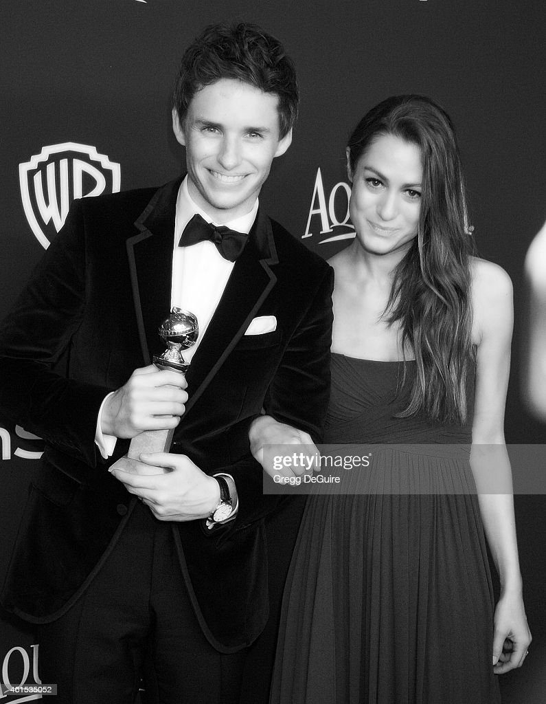 Actor Eddie Redmayne and wife Hannah Bagshawe arrive at the 16th Annual Warner Bros. And InStyle Post-Golden Globe Party at The Beverly Hilton Hotel on January 11, 2015 in Beverly Hills, California.