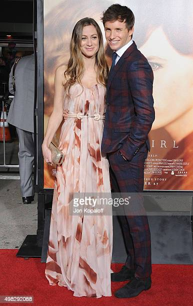 Actor Eddie Redmayne and wife Hannah Bagshawe arrive at the Los Angeles Premiere Of Focus Features' 'The Danish Girl' at Westwood Village Theatre on...