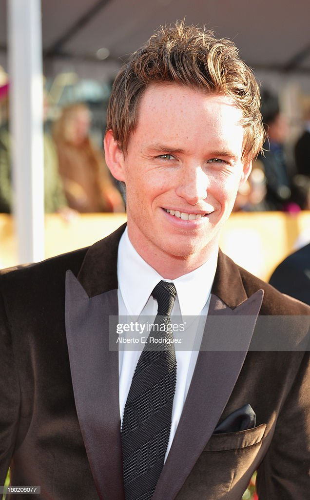 Actor Eddie Redmayne arrives at the 19th Annual Screen Actors Guild Awards held at The Shrine Auditorium on January 27, 2013 in Los Angeles, California.