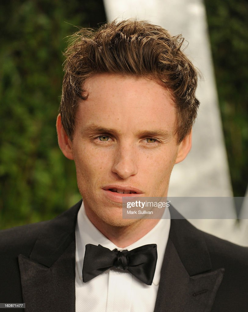 Actor Eddie Redmayne arrives at the 2013 Vanity Fair Oscar Party at Sunset Tower on February 24, 2013 in West Hollywood, California.