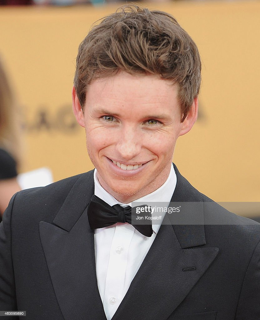 Actor Eddie Redmayne arrives at the 21st Annual Screen Actors Guild Awards at The Shrine Auditorium on January 25, 2015 in Los Angeles, California.