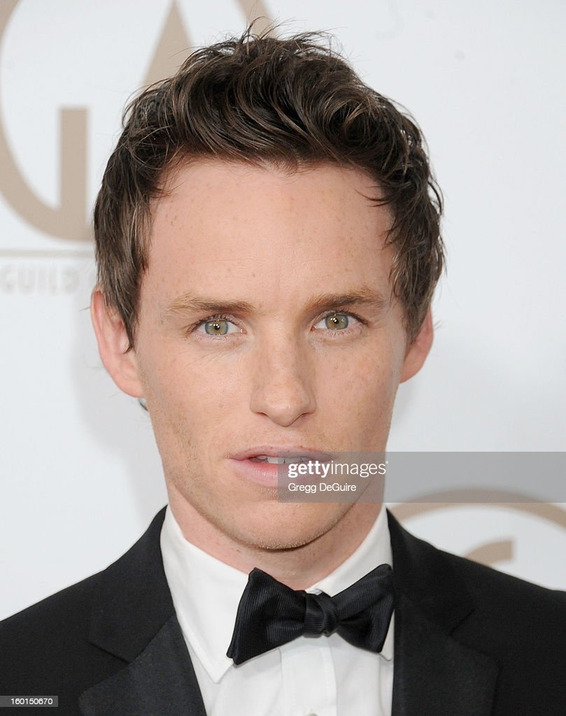 Actor Eddie Redmayne arrives at the 24th Annual Producers Guild Awards at The Beverly Hilton Hotel on January 26, 2013 in Beverly Hills, California.