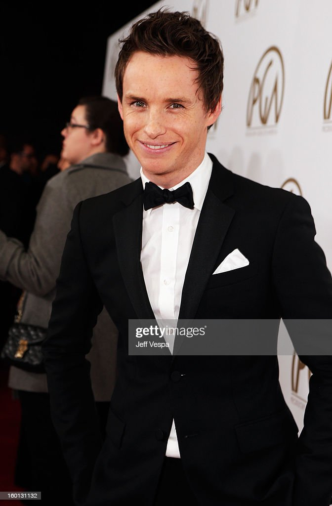 Actor Eddie Redmayne arrives at the 24th Annual Producers Guild Awards held at The Beverly Hilton Hotel on January 26, 2013 in Beverly Hills, California.