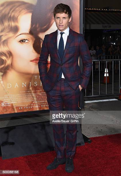 Actor Eddie Redmayne arrives at the premiere of Focus Features' 'The Danish Girl' at Westwood Village Theatre on November 21 2015 in Westwood...