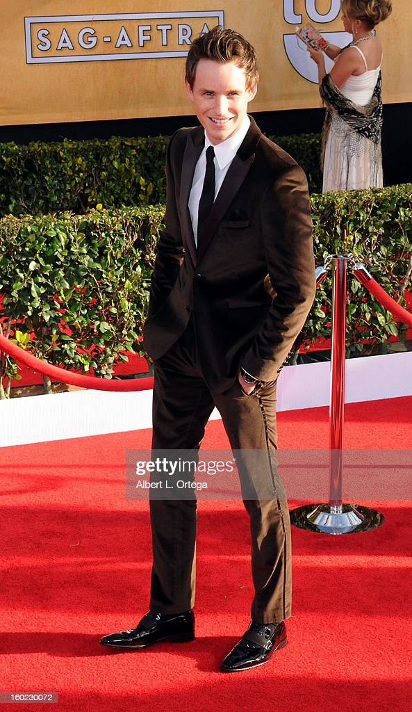 Actor Eddie Redmayne arrives for the 19th Annual Screen Actors Guild Awards - Arrivals held at The Shrine Auditorium on January 27, 2013 in Los Angeles, California.