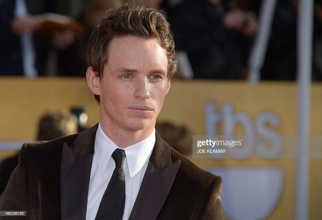 Actor Eddie Redmayne arrives for the 19th Screen Actors Guild Awards on January 27, 2013 at the Shrine Auditorium in Los Angeles, California. AFP PHOTO/Joe Klamar