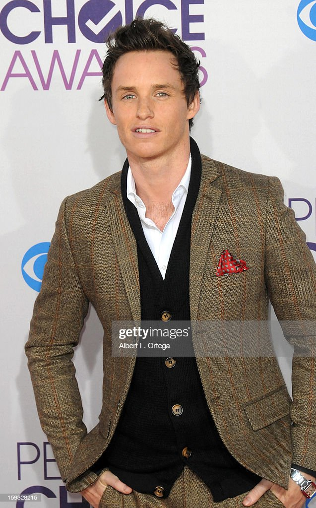 Actor Eddie Redmayne arrives for the 34th Annual People's Choice Awards - Arrivals held at Nokia Theater at L.A. Live on January 9, 2013 in Los Angeles, California.
