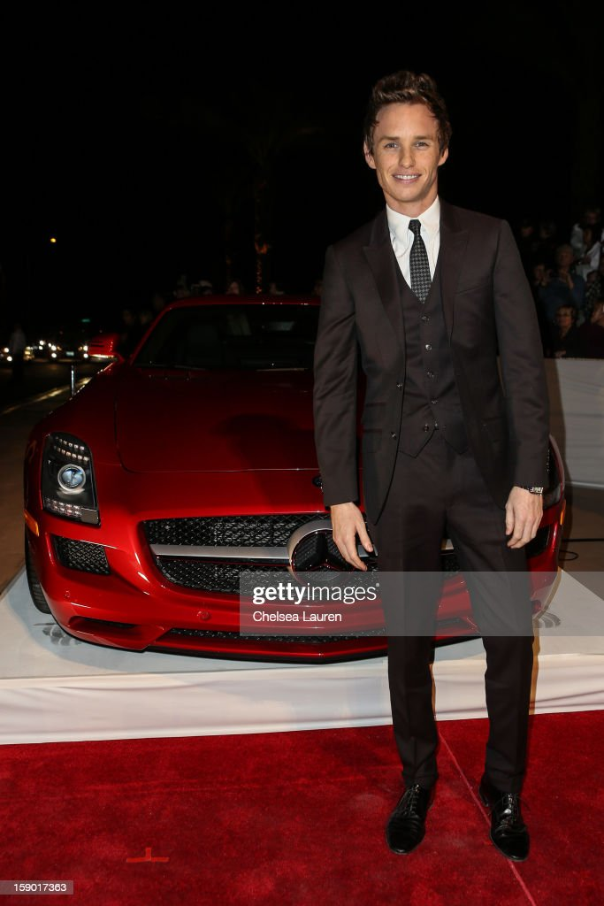 Actor Eddie Redmayne arrives in style with Mercedes-Benz at the Palm Springs International Film Festival at the Palm Springs Convention Center on January 5, 2013 in Palm Springs, California.