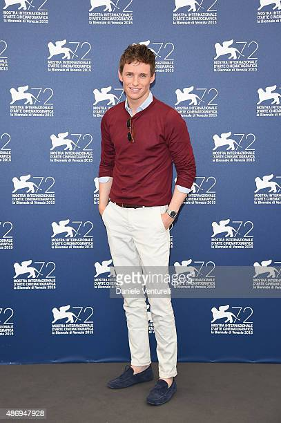 Actor Eddie Redmayne attends a photocall for 'The Danish Girl' during the 72nd Venice Film Festival at Palazzo del Casino on September 5 2015 in...