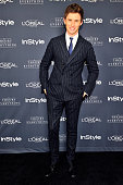 Actor Eddie Redmayne attends InStyle Focus Features 2015 Golden Globe Nominations party for 'The Theory Of Everything' at Chateau Marmont on January...