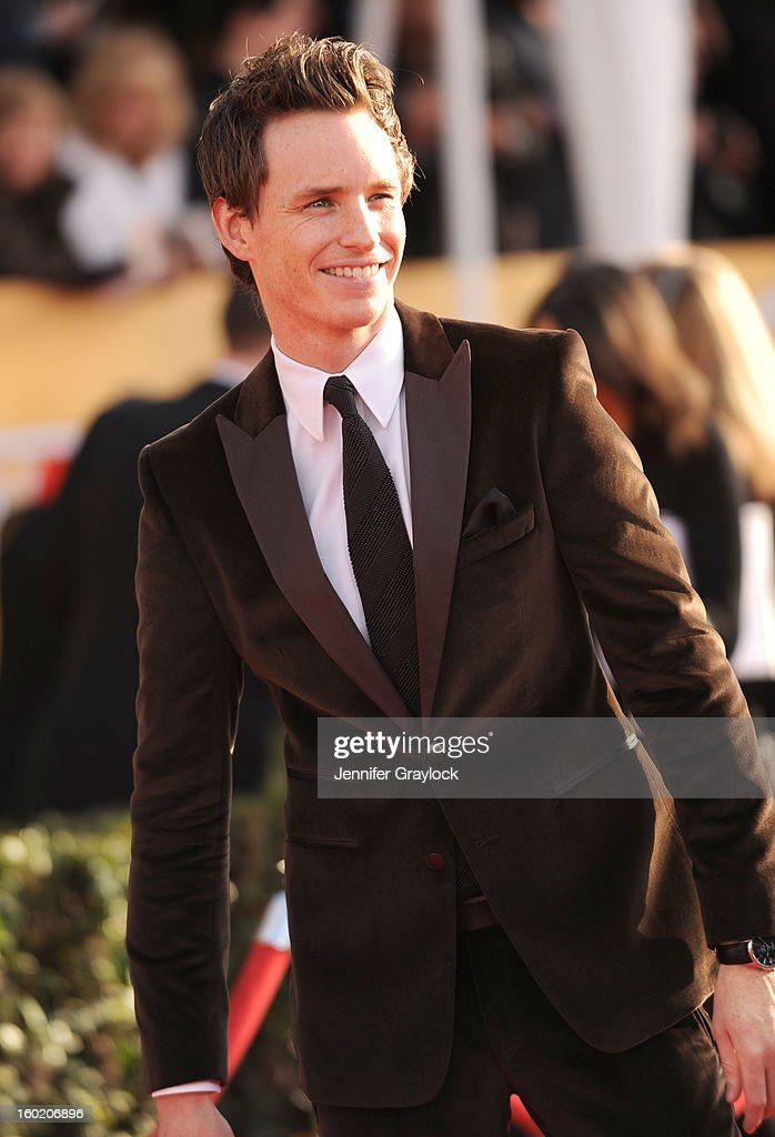 Actor Eddie Redmayne attends the 19th Annual Screen Actors Guild Awards held at The Shrine Auditorium on January 27 2013 in Los Angeles California