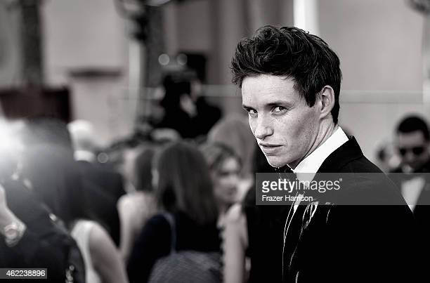 Actor Eddie Redmayne attends the 21st Annual Screen Actors Guild Awards at The Shrine Auditorium on January 25 2015 in Los AngelesCalifornia