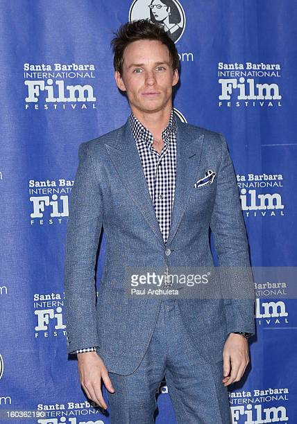 Actor Eddie Redmayne attends the 28th Santa Barbara International Film Festival Virtuoso Award Ceremony at The Arlington Theatre on January 29 2013...