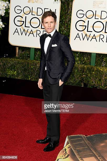 Actor Eddie Redmayne attends the 73rd Annual Golden Globe Awards held at the Beverly Hilton Hotel on January 10 2016 in Beverly Hills California