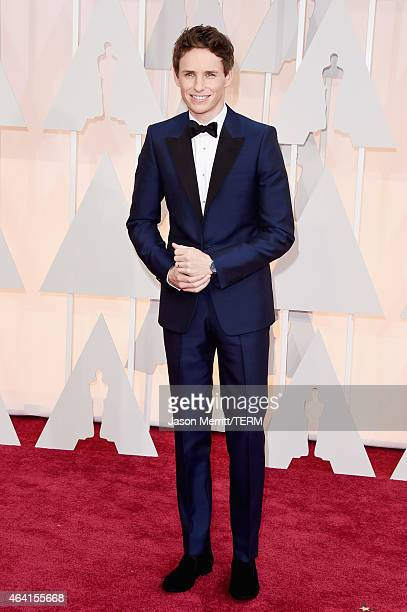 Actor Eddie Redmayne attends the 87th Annual Academy Awards at Hollywood Highland Center on February 22 2015 in Hollywood California