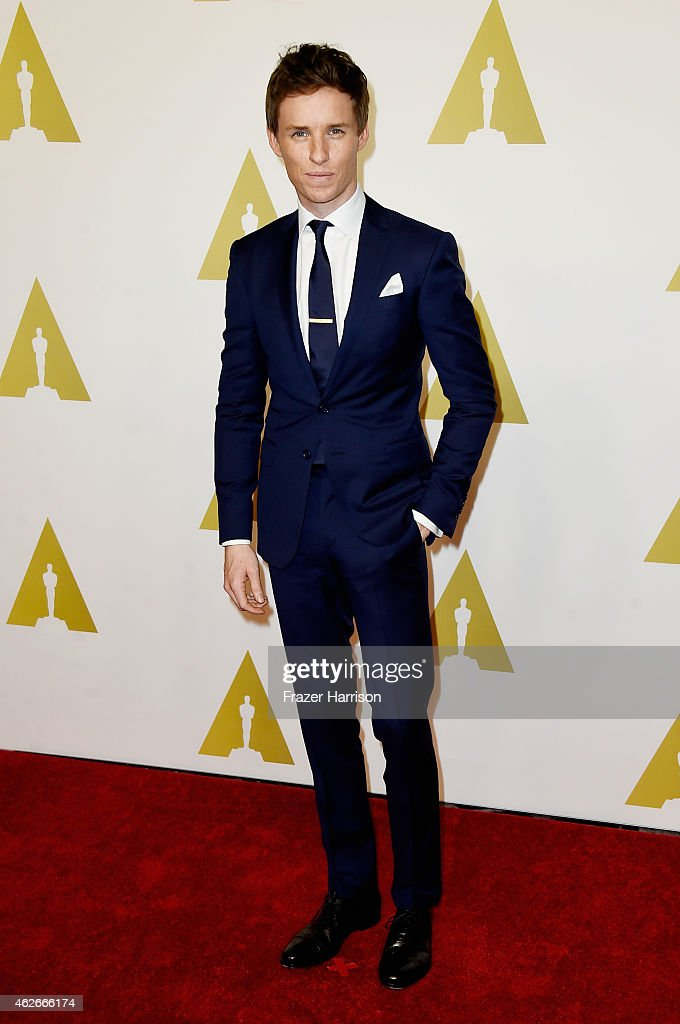 Actor Eddie Redmayne attends the 87th Annual Academy Awards Nominee Luncheon at The Beverly Hilton Hotel on February 2 2015 in Beverly Hills...