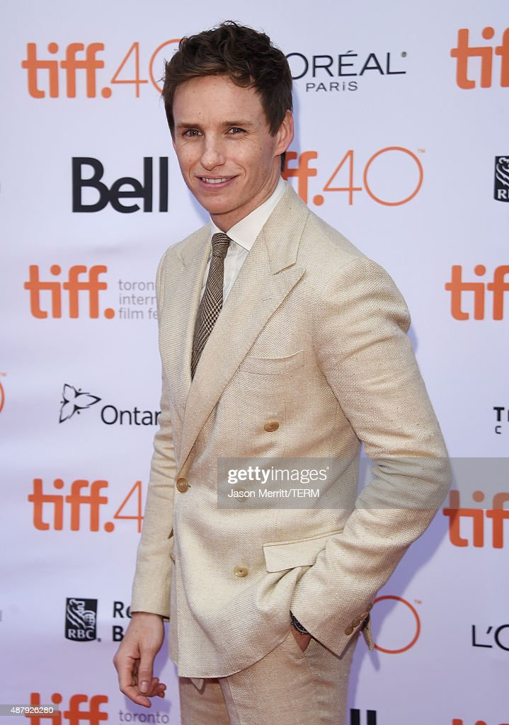 Actor Eddie Redmayne attends 'The Danish Girl' premiere during the 2015 Toronto International Film Festival at the Princess of Wales Theatre on September 12, 2015 in Toronto, Canada.