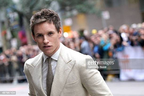 Actor Eddie Redmayne attends 'The Danish Girl' premiere during the 2015 Toronto International Film Festival held at the Princess of Wales Theatre on...