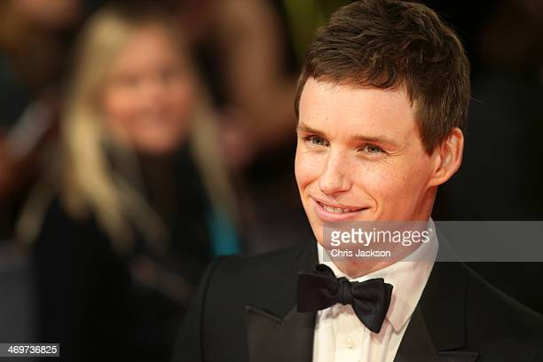 Actor Eddie Redmayne attends the EE British Academy Film Awards 2014 at The Royal Opera House on February 16 2014 in London England