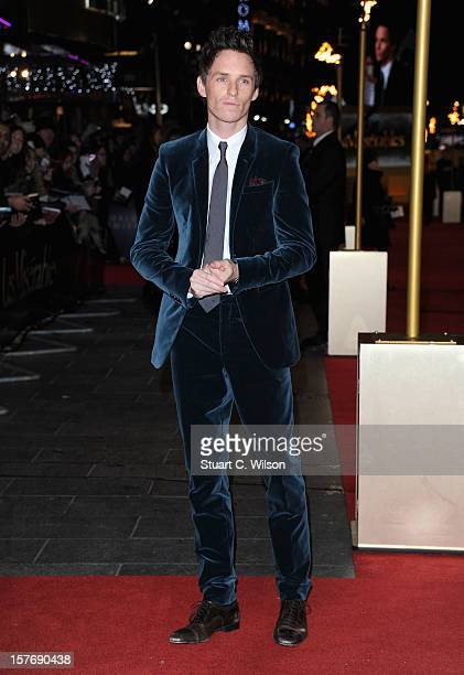 Actor Eddie Redmayne attends the 'Les Miserables' World Premiere at the Odeon Leicester Square on December 5 2012 in London England