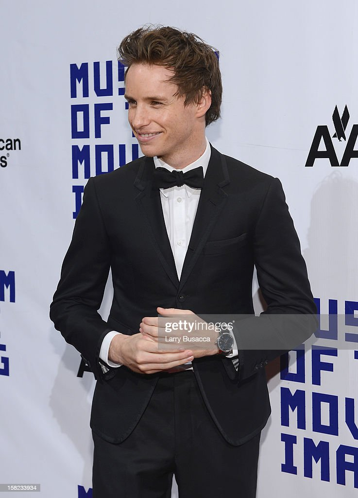 Actor <a gi-track='captionPersonalityLinkClicked' href=/galleries/search?phrase=Eddie+Redmayne&family=editorial&specificpeople=2554844 ng-click='$event.stopPropagation()'>Eddie Redmayne</a> attends the Museum Of Moving Images Salute To Hugh Jackman at Cipriani Wall Street on December 11, 2012 in New York City.