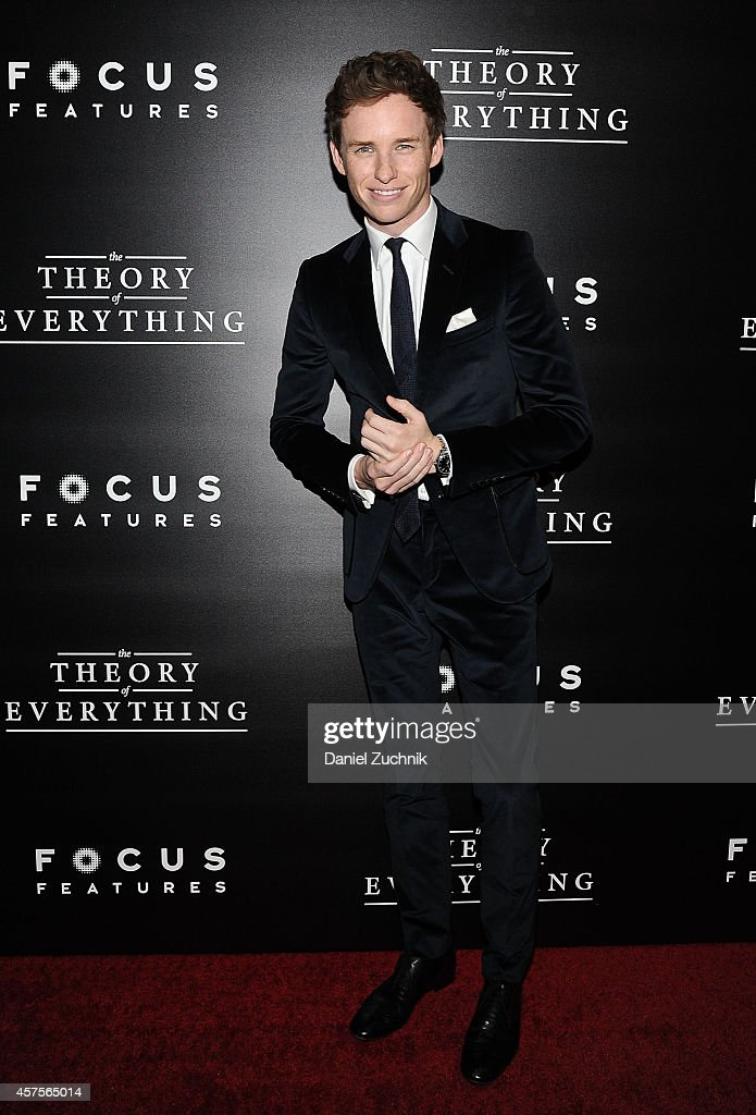 Actor Eddie Redmayne attends 'The Theory of Everything' New York Premiere at Museum of Modern Art on October 20, 2014 in New York City.