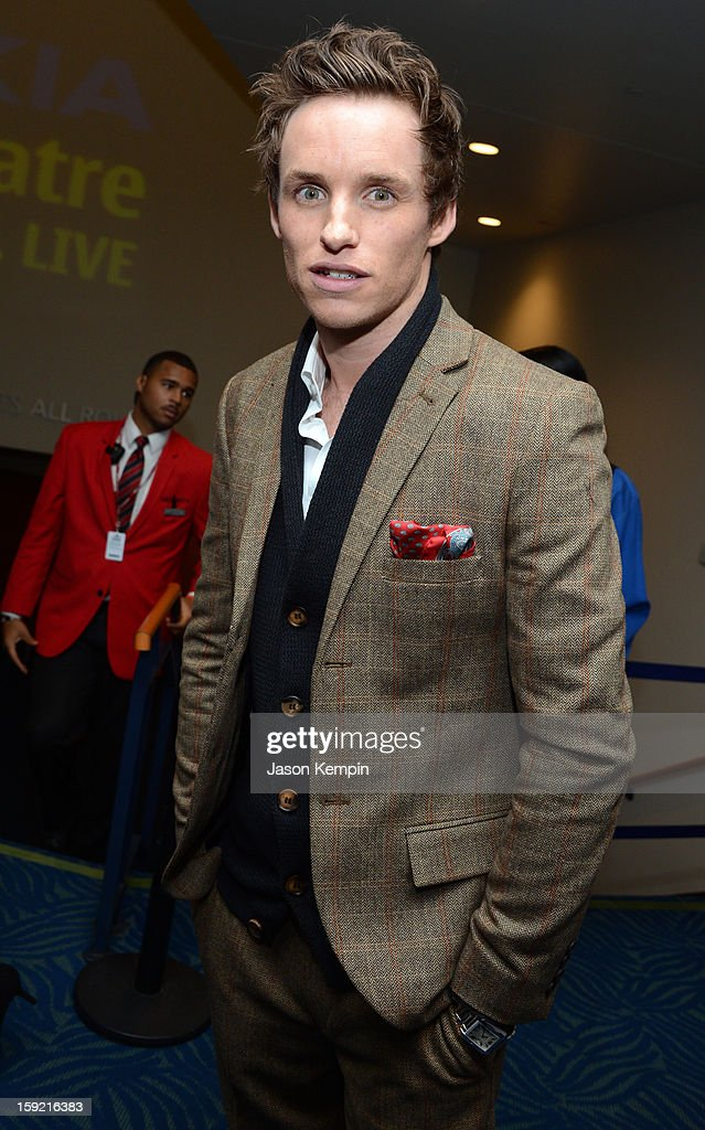 Actor Eddie Redmayne backstage at the 39th Annual People's Choice Awards at Nokia Theatre L.A. Live on January 9, 2013 in Los Angeles, California.