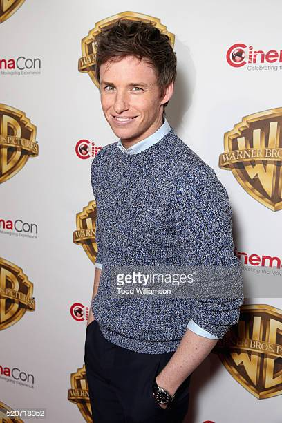 """Actor Eddie Redmayne of 'Fantastic Beasts and Where to Find Them' attends CinemaCon 2016 Warner Bros Pictures Invites You to """"The Big Picture"""" an..."""