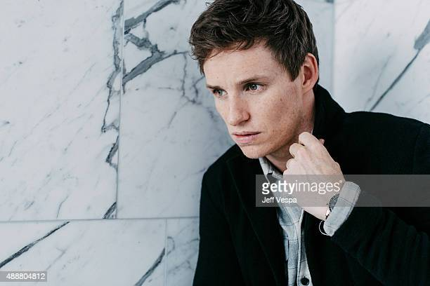 Actor Eddie Redmayne of 'The Danish Girl' poses for a portrait at the 2015 Toronto Film Festival at the TIFF Bell Lightbox on September 15 2015 in...