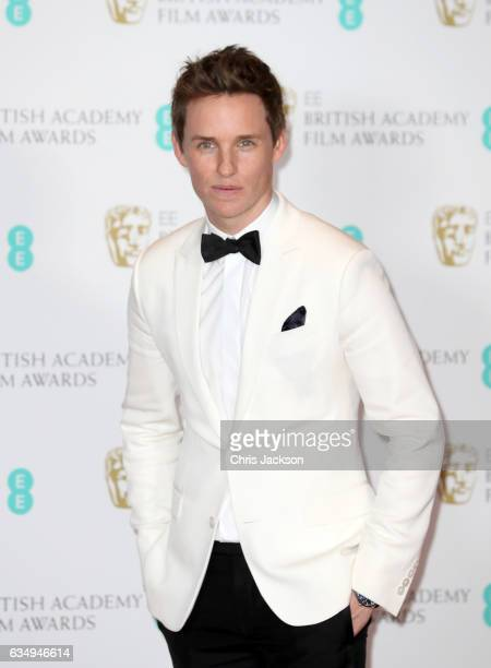 Actor Eddie Redmayne poses in the winners room during the 70th EE British Academy Film Awards at Royal Albert Hall on February 12 2017 in London...