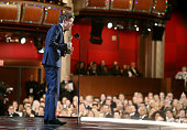 Actor Eddie Redmayne winner of the Best Actor in a Leading Role Award for 'The Theory of Everything' onstage at the 87th Annual Academy Awards at...