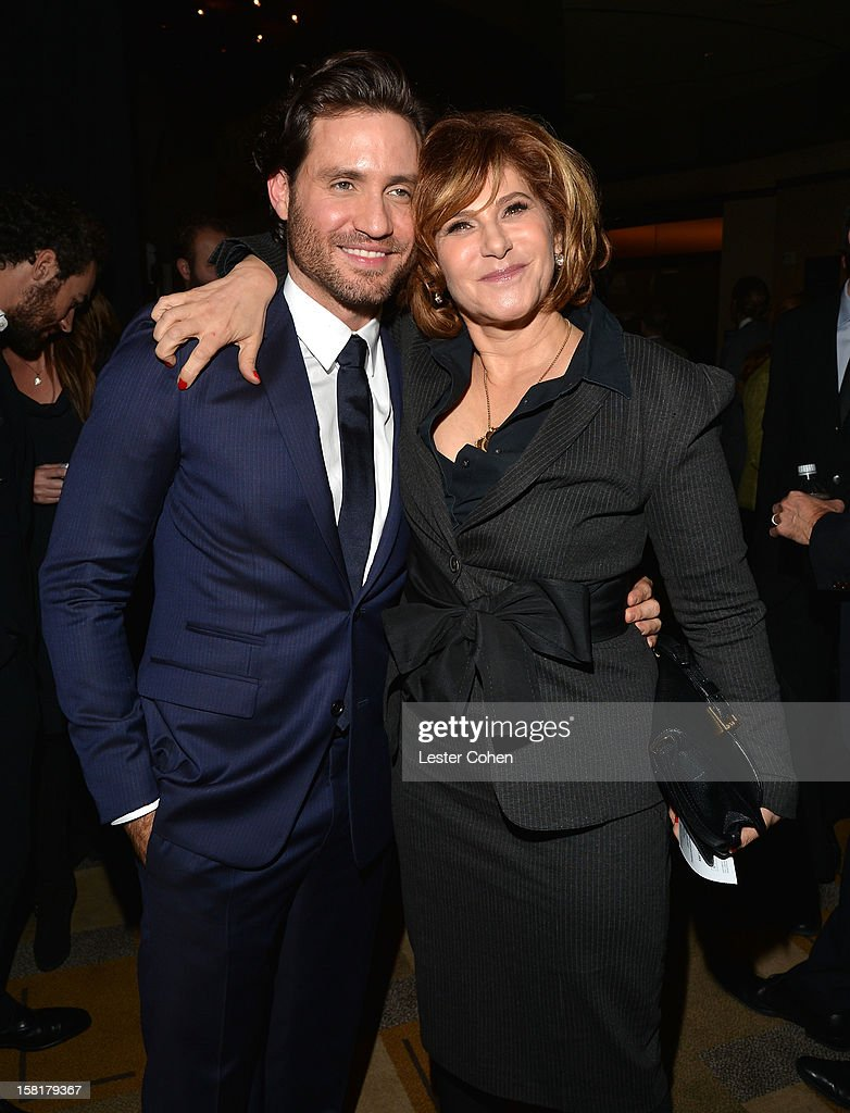 Actor Edgar Ramirez (L) and Co-Chairman, Sony Pictures Entertainment <a gi-track='captionPersonalityLinkClicked' href=/galleries/search?phrase=Amy+Pascal&family=editorial&specificpeople=207083 ng-click='$event.stopPropagation()'>Amy Pascal</a> attend the 'Zero Dark Thirty' Los Angeles Premiere at Dolby Theatre on December 10, 2012 in Hollywood, California.