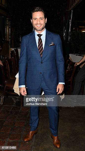 Actor Edgar Ramirez attends Angeleno celebrates its cover star Edgar Ramirez at an exclusive dinner party on September 27 2016 in West Hollywood...