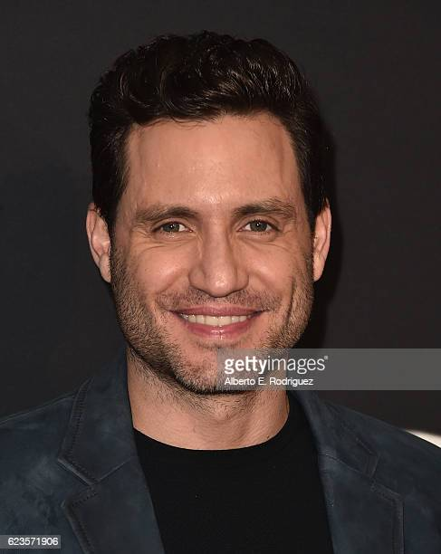 Actor Edgar Ramirez attends Prada Presents 'Past Forward' by David O Russell premiere at Hauser Wirth Schimmel on November 15 2016 in Los Angeles...