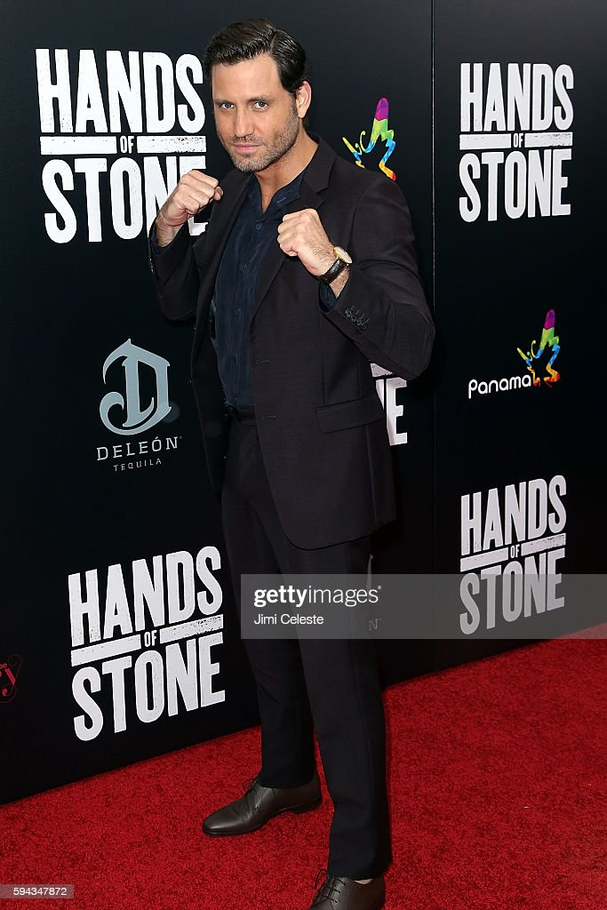 Actor Edgar Ramirez attends The Weinstein Company Presents the US Premiere of 'Hands of Stone' at SVA Theater on August 22 2016 in New York City
