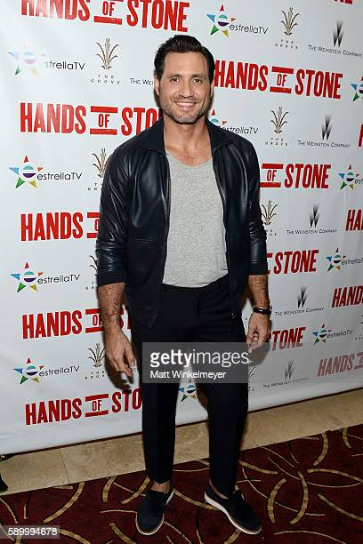 Actor Edgar Ramirez attends The Weinstein Company's HANDS OF STONE special screening hosted at The Grove on August 15 2016 in Los Angeles California