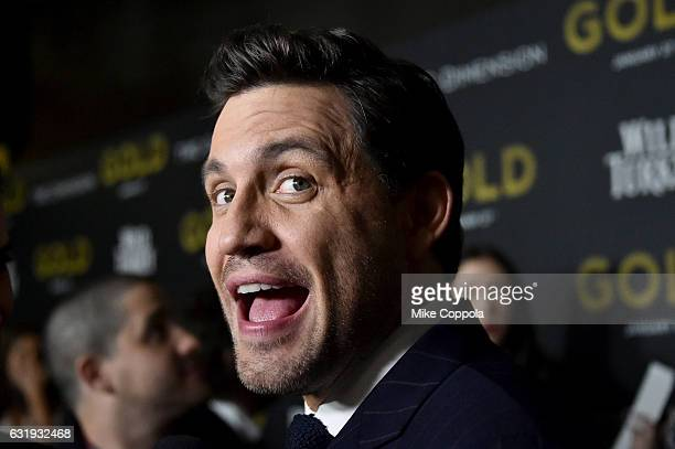Actor Edgar Ramirez attends The World Premiere of 'Gold' hosted by TWC Dimension with Popular Mechanics The Palm Court Wild Turkey Bourbon at AMC...