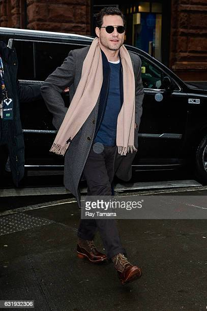 Actor Edgar Ramirez enters the 'AOL Build' taping at the AOL Studios on January 17 2017 in New York City