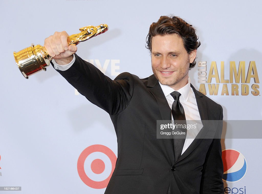 Actor Edgar Ramirez poses in the press room at the 2012 NCLR ALMA Awards at Pasadena Civic Auditorium on September 16, 2012 in Pasadena, California.