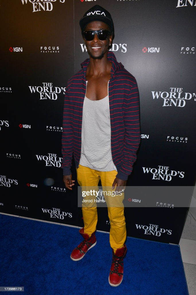 Actor <a gi-track='captionPersonalityLinkClicked' href=/galleries/search?phrase=Edi+Gathegi&family=editorial&specificpeople=4327719 ng-click='$event.stopPropagation()'>Edi Gathegi</a> attends IGN And Focus Features Comic-Con 2013 Party Presented By The World's End at Float at Hard Rock Hotel San Diego on July 18, 2013 in San Diego, California.