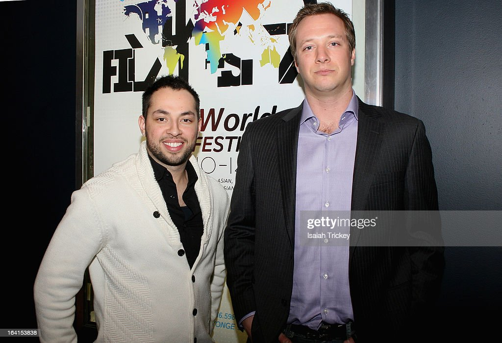 Actor Edison Morales and Director Chris Abell attend the Reel World Film Festival - Press Conference at Famous Players – Canada Square on March 20, 2013 in Toronto, Canada.