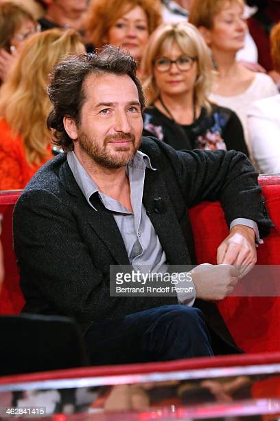 Actor Edouard Baer here for his drama 'La porte a cote' from Fabrice RogerLacan attends 'Vivement Dimanche' French TV Show Held at Pavillon Gabriel...