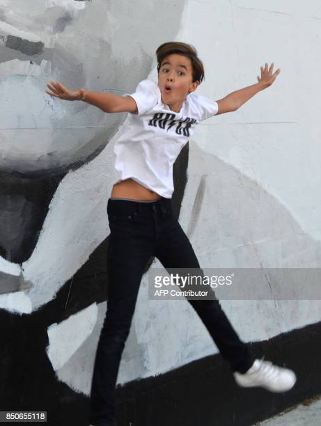 Actor Edouard Holdener poses for a photo in Los Angeles California September 8 2017 From scifi horror series 'Stranger Things' to drama 'Big Little...