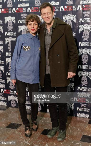 Actor Edu Soto and Eva Hurtado attend the 'El Langui concert' photocall at Apolo theatre on February 16 2017 in Madrid Spain